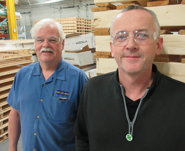 Guru Security behind Pete Cowan of Laird Plastics